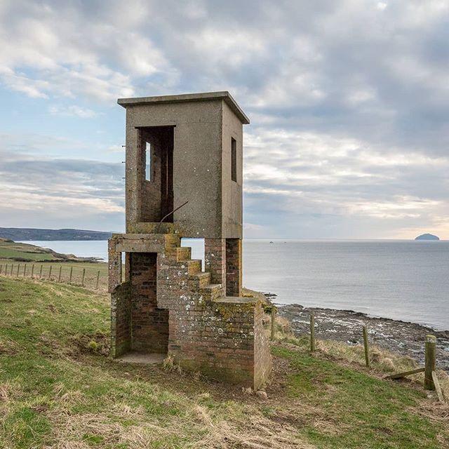 WW2 Lookout tower Dunure Ayrshire #Scotland #ukcoastwalk