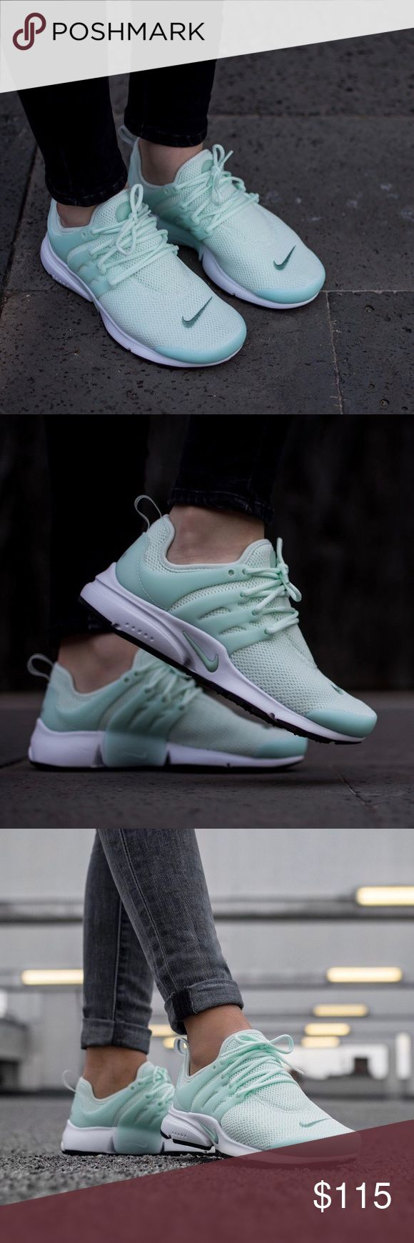 Nike Mint Green Presto Sneakers •Mint green Prestos  •Women's size 8, whole sizes only. Will fit a 7.5/8.  •New in box, no lid.  •No trades, no holds. Nike Shoes Sneakers
