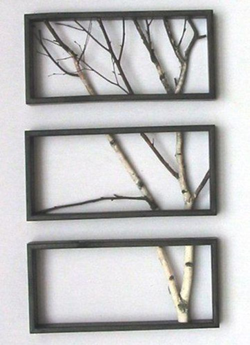 I saw something similar to this at a craft fair but the guy had used old window frames instead of picture frames. They were a little more rustic but still cool.