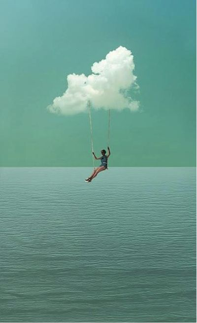 *Hang gliding from a cloud. #Photography #Fantasy Follow Rent a Stylist http://pinterest.com/rentastylist/ Dreamy.