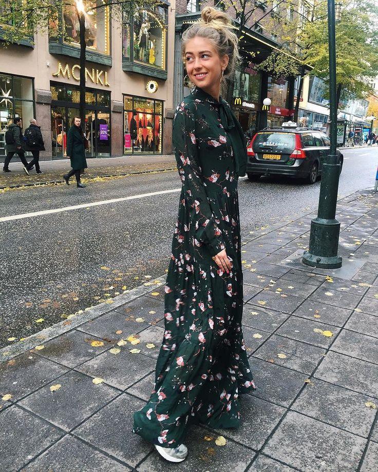Ganni Streetstyle | Emili Sindlev | Marietta Georgette Maxi Dress