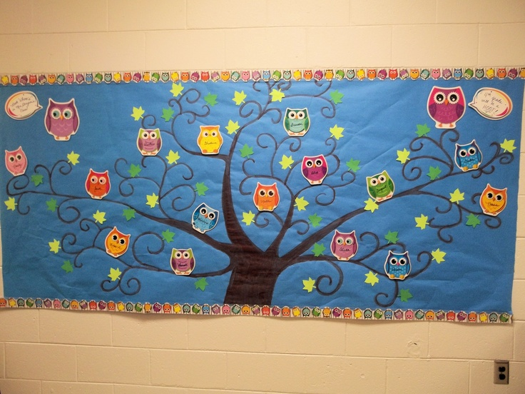 Welcome Back Bulletin Board Owl Theme Look Quot Whooo S Quot In
