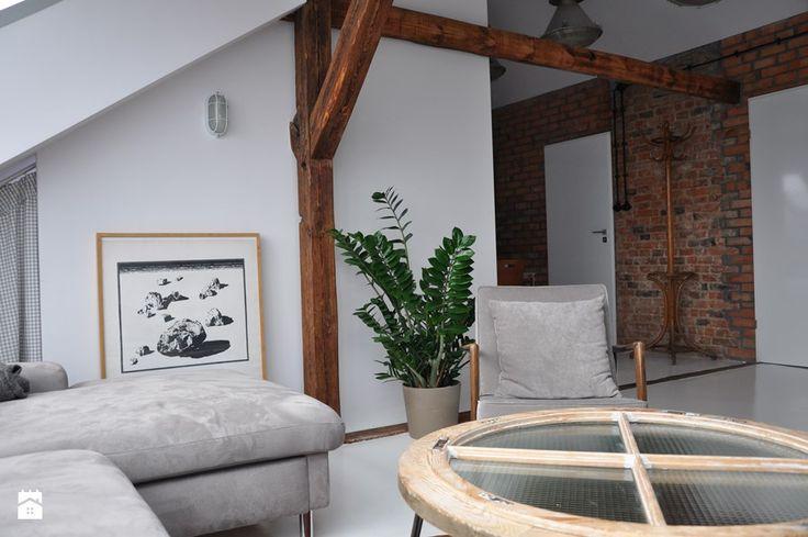 middleloft biały - Salon, styl vintage - zdjęcie od ENDE marcin lewandowicz