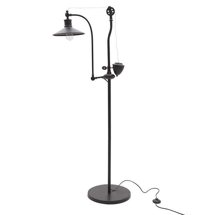 METAL FLOOR LAMP IN BLACK COLOR 60X30X160 - Floor - LIGHTINGS