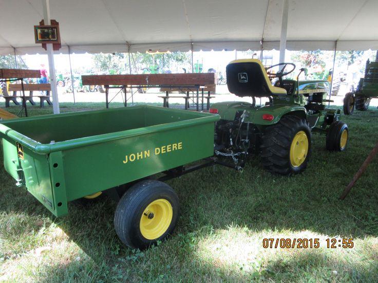 John Deere 140 garden tractor  & 80  cart