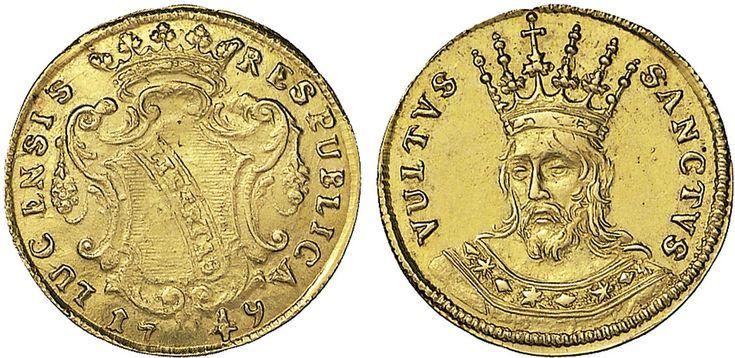 NumisBids: Nomisma Spa Auction 50, Lot 112 : LUCCA Repubblica (1369-1799) Mezza doppia 1749 – Bellesia...