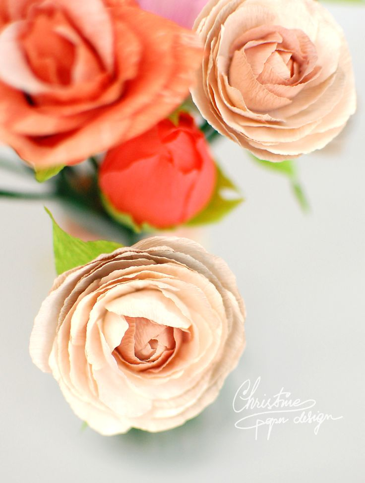 Best 24 paper flowers ranunculus images on pinterest flower diy paper flowers delicate and soft paper ranunculus mightylinksfo