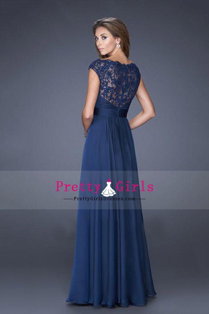 2015 Vintage Evening Dresses Chiffon Off The Shoulder With Beads And Ruffles CAD 213.61 PGDPSZDMFZ3 - PrettyGirlsDresses.com