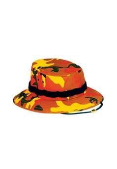 Savage Orange Camouflage Jungle Hat ! Buy Now at gorillasurplus.com