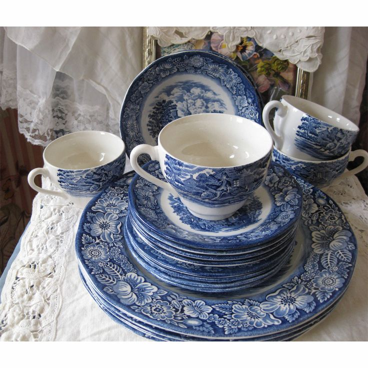 Bicentennial Liberty Blue Dinnerware. I've been collecting these for years. I can't wait until we redo the kitchen where I display them.