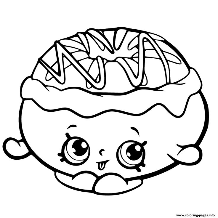 Chrissy Cream From Shopkins Chef Club Coloring Pages Free Printable
