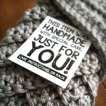 Free Printable Labels for Handmade Items - Little monkeys crochet, thanks so xox