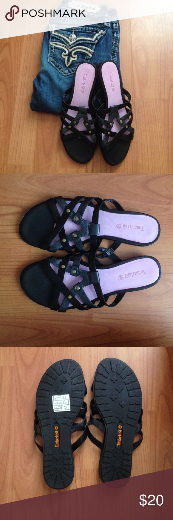 Timberland sandals Timberland black slides, never worn. Timberland Shoes Sandals