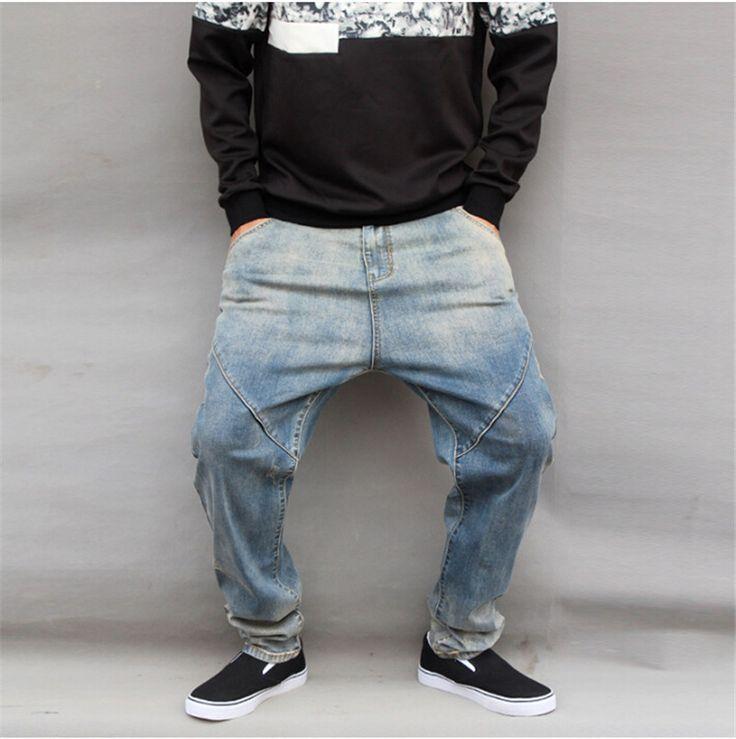 Men jeans Mens Fashion 2015 New British style harem pants hanging crotch pants large size jeans pants tide hole M-6XL