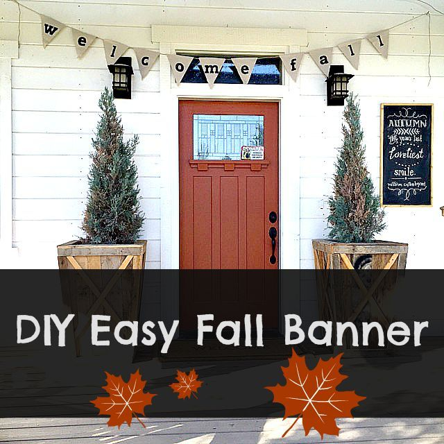Come see how to make this fun and easy fall banner! It is a great addition to your fall decor.