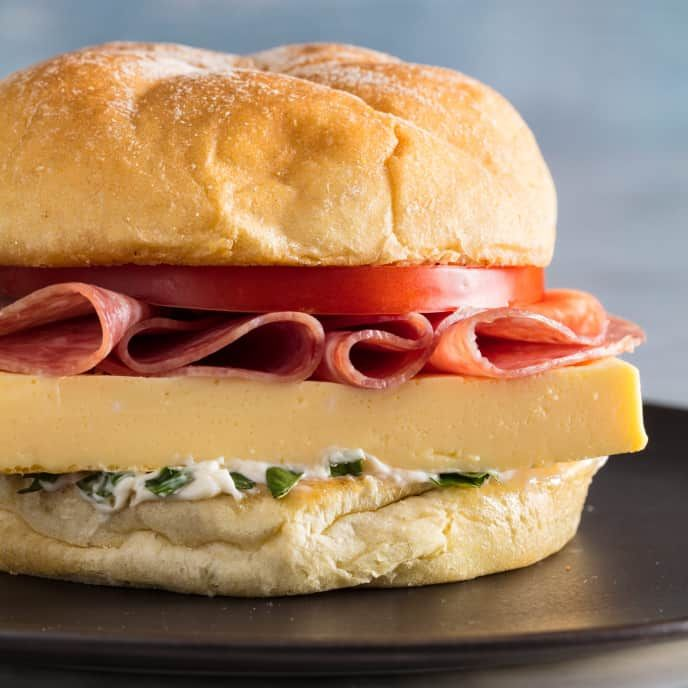 Egg Salami And Tomato Sandwiches Cook S Illustrated Recipe Sandwiches Tomato Sandwich Egg Sandwiches