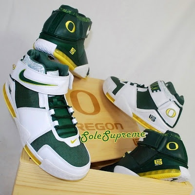 Nike Zoom LeBron II Oregon Ducks PEs Set. Go Ducks.