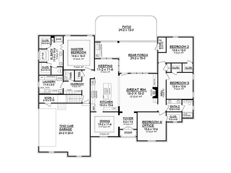 Level 1 ku e pinterest house future house and room for Www eplans com house plans