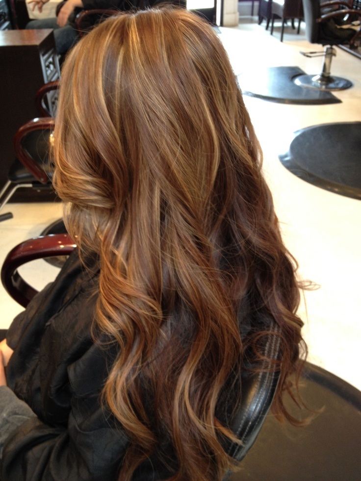 Super warm brown with a few bright highlights. I'm thinking highlights this summer, any opinions would be greatly appreciated.... :D
