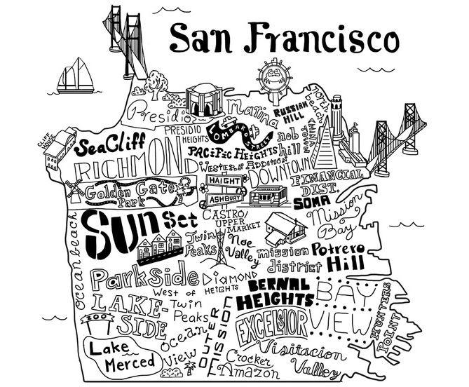 Love all the SF graphic neighborhood maps