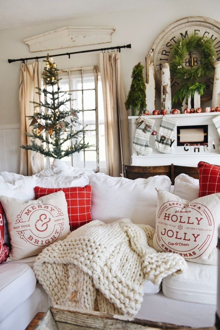 A Cozy Cheerful Christmas Living Room