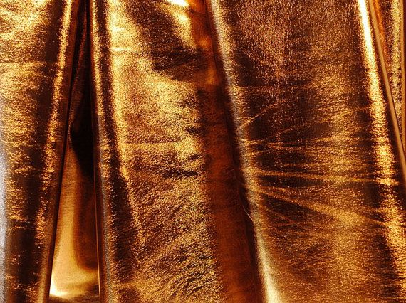 Stretch Fabric Metallic Brown Foil on by DesignerAlleyFabrics