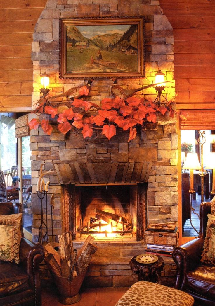 Cozy Fall Fireplace Fall Fireplace Autumn Decorating