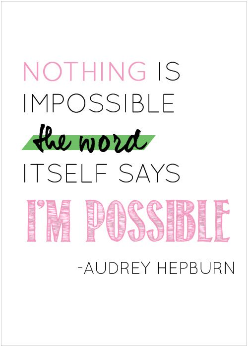 That's me - impossible - I'm possible !