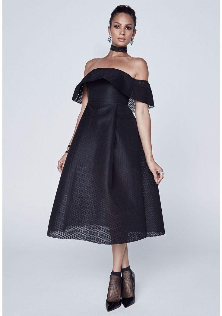 Alesha Dixon Bardot Frill Dress - Party dresses outlet