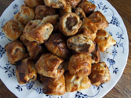 Quick and easy sausage rolls, recipe from Helen Graves. I can't wait to make these for a party.