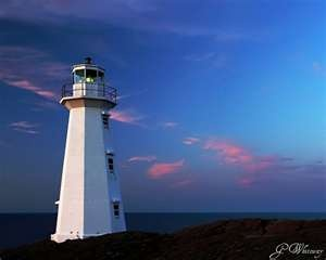 This is the new lighthouse built at Cape Spear in 1955..