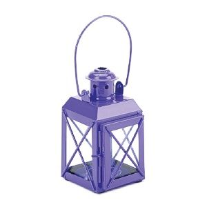 Brighten your living space, indoors or outdoors, with a pop of vibrant purple and the shimmering shine of candlelight. This charming railroad-style candle lantern features a large handle and hinged door. http://www.wholesalemart.com/Wholesale-Candle-Holders-s/85.htm