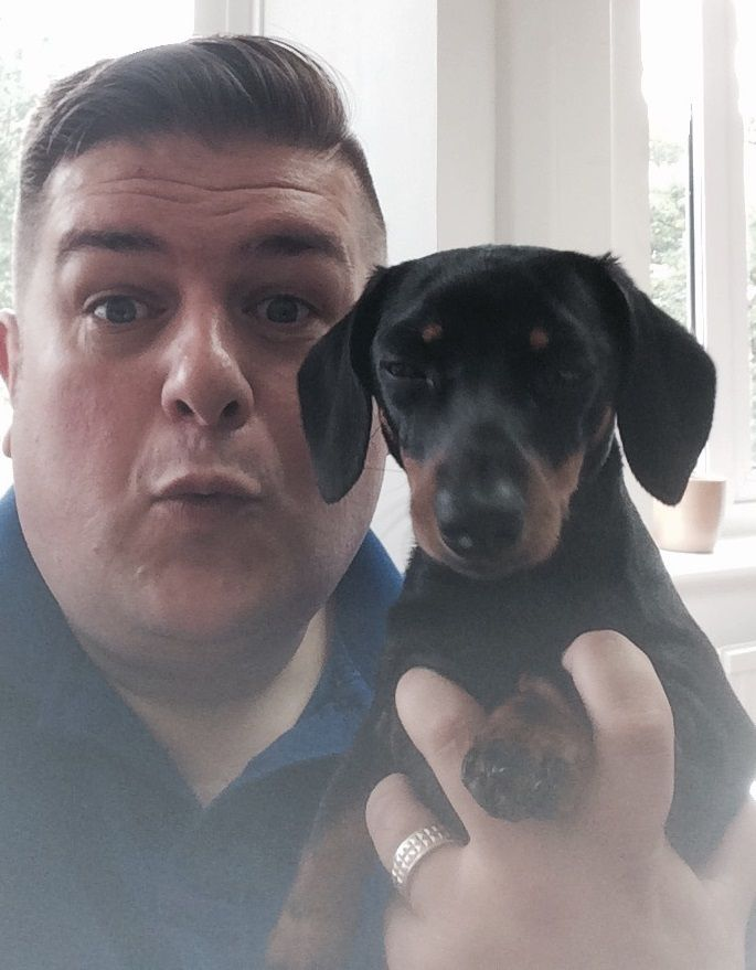 Peggy and James #peggyselfie #OfficeDog