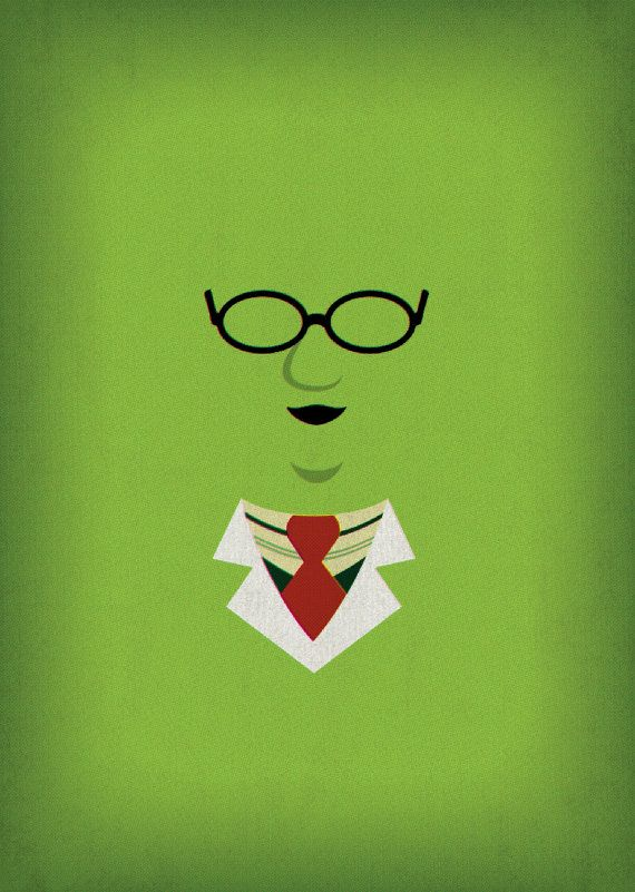 Printable Art The Muppets Show Dr Bunsen Honeydew by TheRetroInc