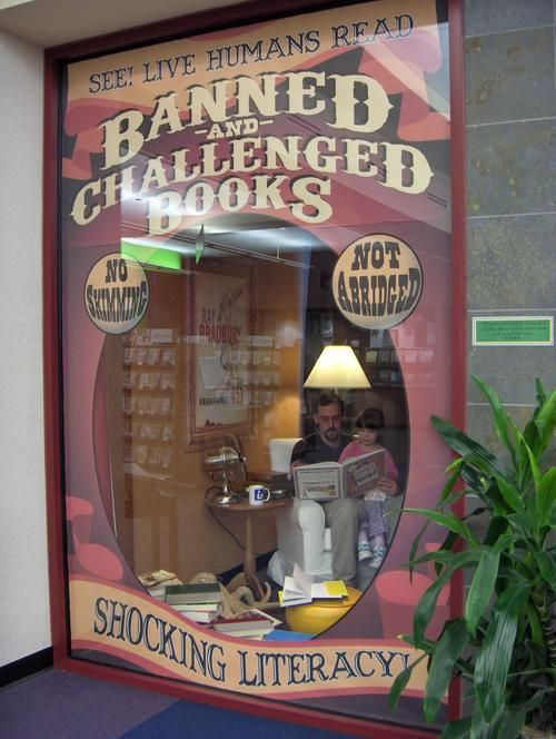 Best library displayever. Banned and Challenged books.