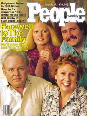 photo | All in the Family, 1970, Carroll O'Connor Cover, Jean Stapleton Cover, Rob Reiner Cover, Sally Struthers Cover, TV Milestones, TV on Covers, Carroll O'Connor, Jean Stapleton, Rob Reiner, Sally Struthers