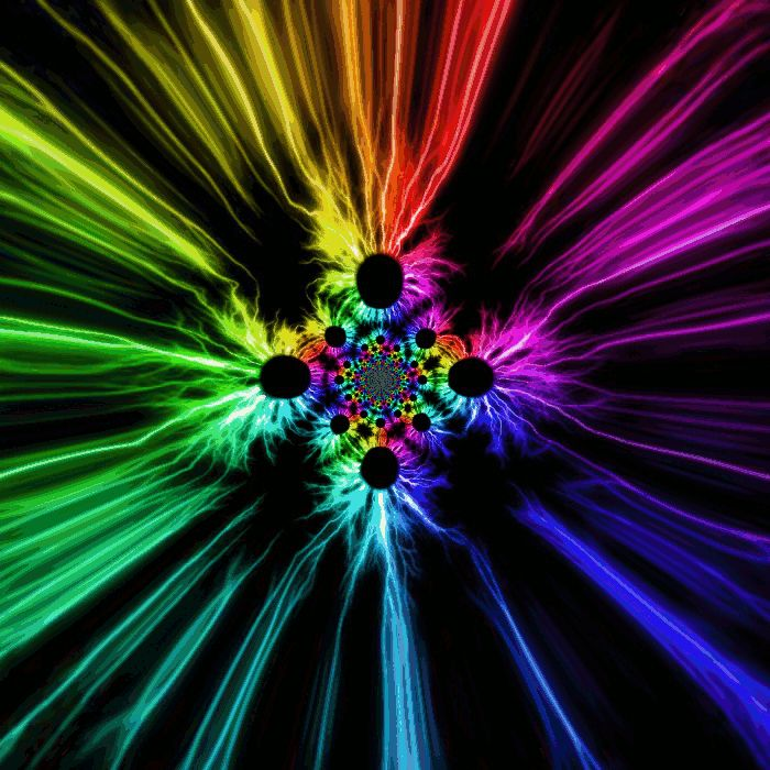 flowers animation images | Light Speed Rainbow Flower ...