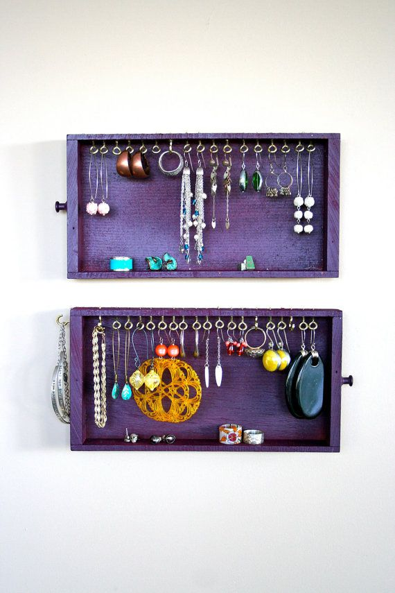 jewelry display vintage purple drawers by LegalMissSunshine, $32.00
