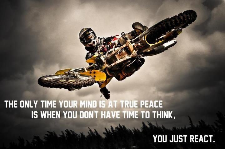 love the quote--to bad the pic isnt of someone on a quad!