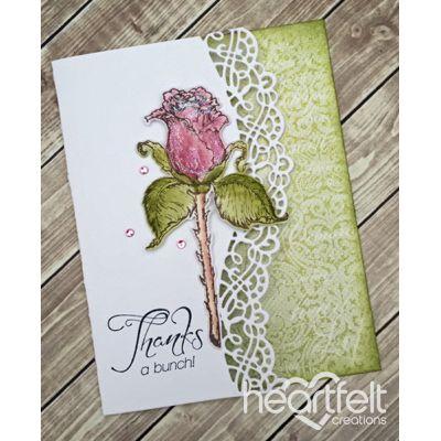 Heartfelt Creations - Thank You Rose Stem Border Project