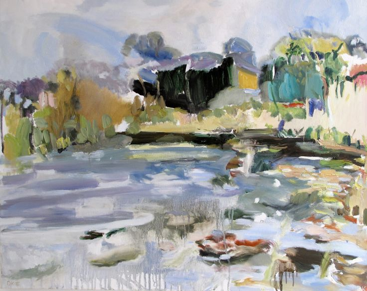 Burton Mill Pond Oil on Canvas 80 x 100 cm £ 1,500  #Art #Paintings #Landscape