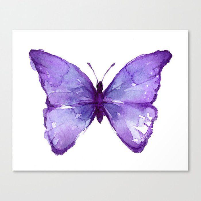 Purple Butterfly Canvas Print By Olechka Medium In 2020 Butterfly Canvas Purple Butterfly Butterfly Art Print