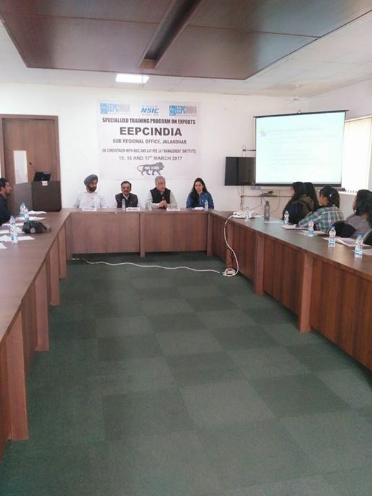 A Group of #MBA final year students of #AIMTC are attending a 3-Day Specialised Training Program on Export Documentation and Export Procedures from 15th March to 17th March 2017 at EEPC Jalandhar. Students will be given hands on Training on Export Documentation and Experts from various Government agencies would give updates on Export incentives and other associated benefits.