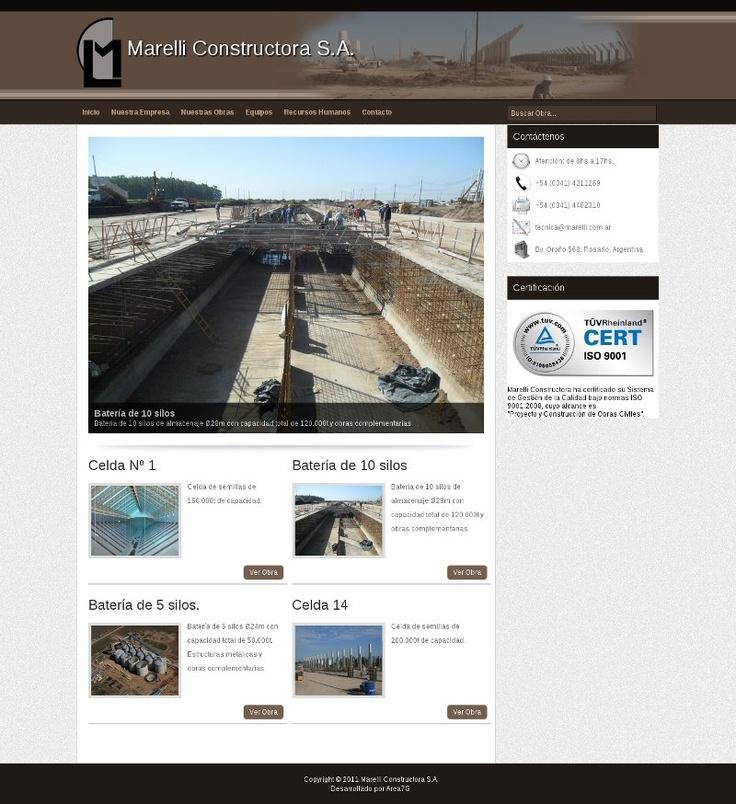 """Diseño web para la constructora """"Marelli S.A."""""""