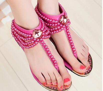 open toe perle d'imitazione della spiaggia di estate accessori dubai arabia saudita partito