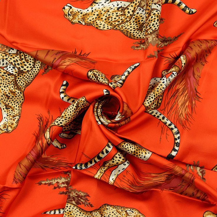 Auth Hermes Paris GUEPARDS Silk Scarf Foulard ROBERT DALLET 90cm #Hermes #ShawlWrap