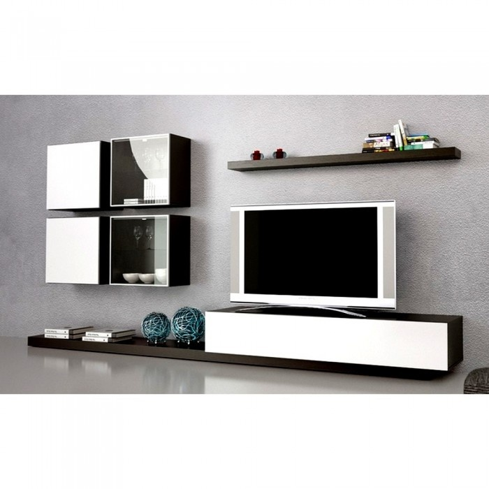13 best images about meuble tv on pinterest tv unit - Meuble tv noir et bois ...