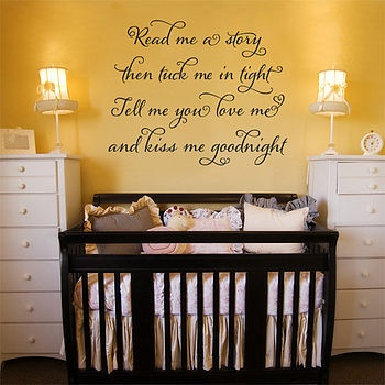 Love this poem and the yellow baby room.