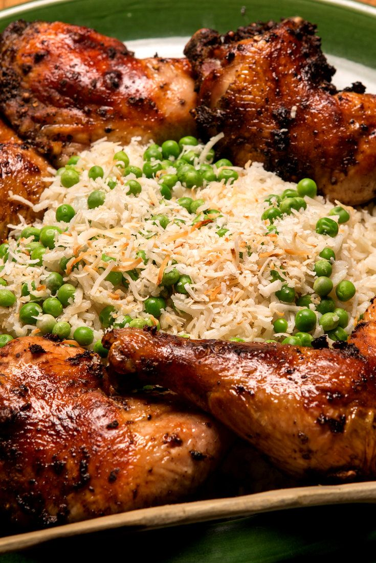 NYT Cooking: Traditional accompaniments for jerk chicken are savory rice with crowder peas or red beans, plantains, sweet potatoes or yams, and a fried corn bread called festival. I had the idea to make my rice with coconut milk and fresh spring peas, which may not please purists, but it's delicious.