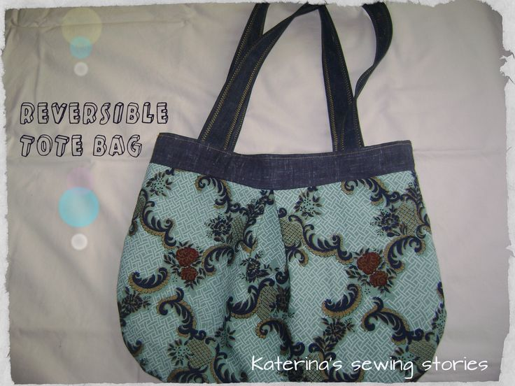 reversible bag...made with vintage fabric...